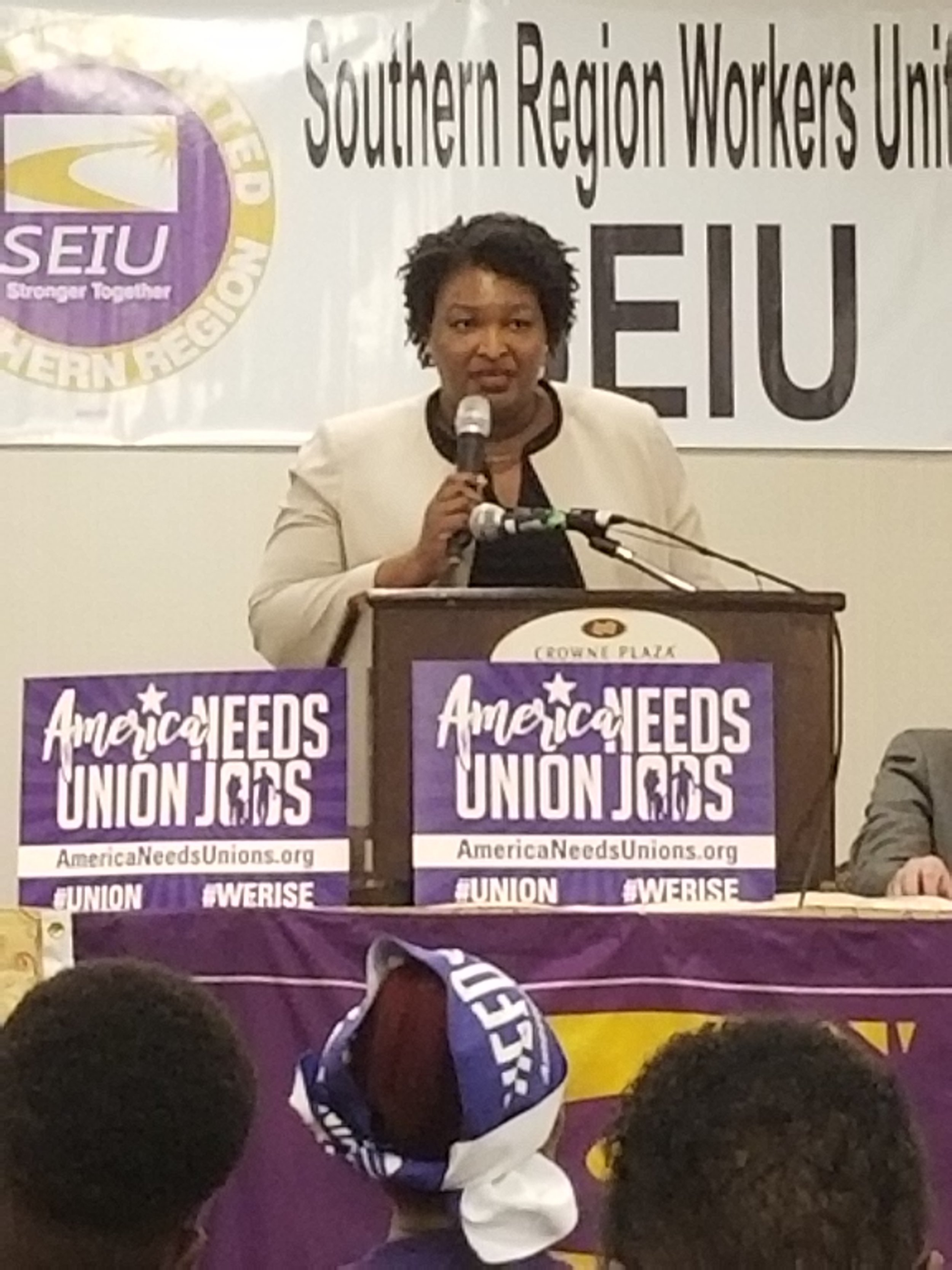 Stacey Abrams addresses the SEIU Southern Region Conference