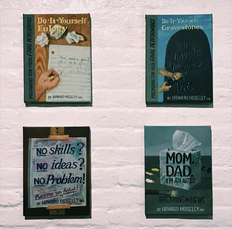 PHOTO: FLYNN OSMAN / BLENDED  Artwork at Spoonbill & Sugartown Booksellers. Book covers by Paul Gagner.