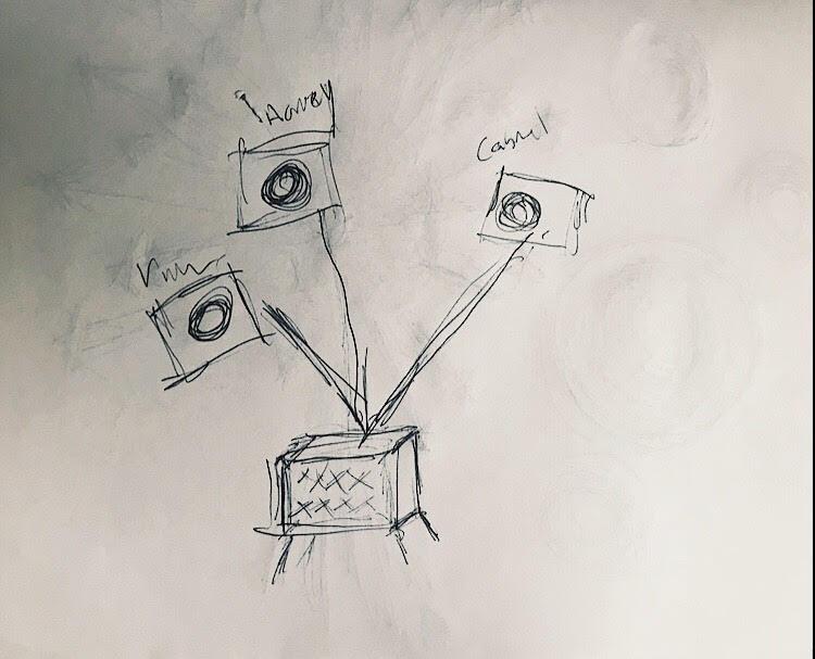 PHOTO: FLYNN OSMAN / BLENDED  JC Hopkin's Drawing of  President 53