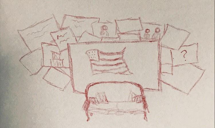 PHOTO: FLYNN OSMAN / BLENDED  Lita Lofton's Drawing of  President 53