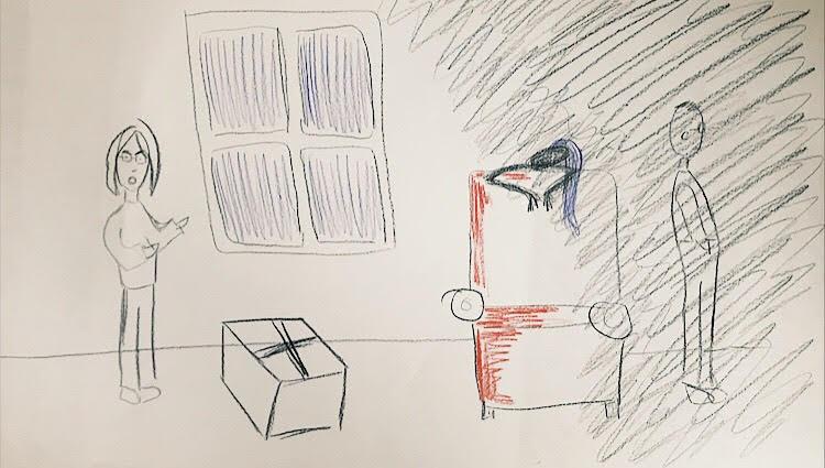 PHOTO: FLYNN OSMAN / BLENDED  Nancy Pop's Drawing of  The Scrapbook Paradox