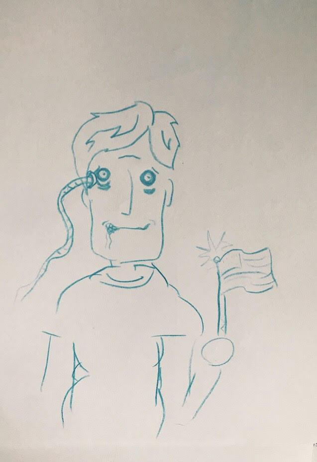 PHOTO: FLYNN OSMAN / BLENDED  Sam T. Wilson's Drawing of  President 53