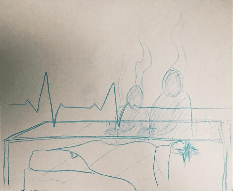 PHOTO: FLYNN OSMAN / BLENDED  Sam T. Wilson's Drawing of  The Scrapbook Paradox