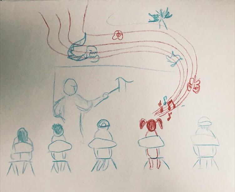 PHOTO: FLYNN OSMAN / BLENDED  Sam T. Wilson's Drawing of  Thumb Sucker