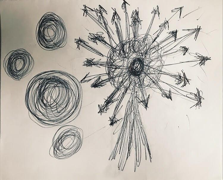 PHOTO: FLYNN OSMAN / BLENDED  JC Hopkin's Drawing of  Thumb Sucker