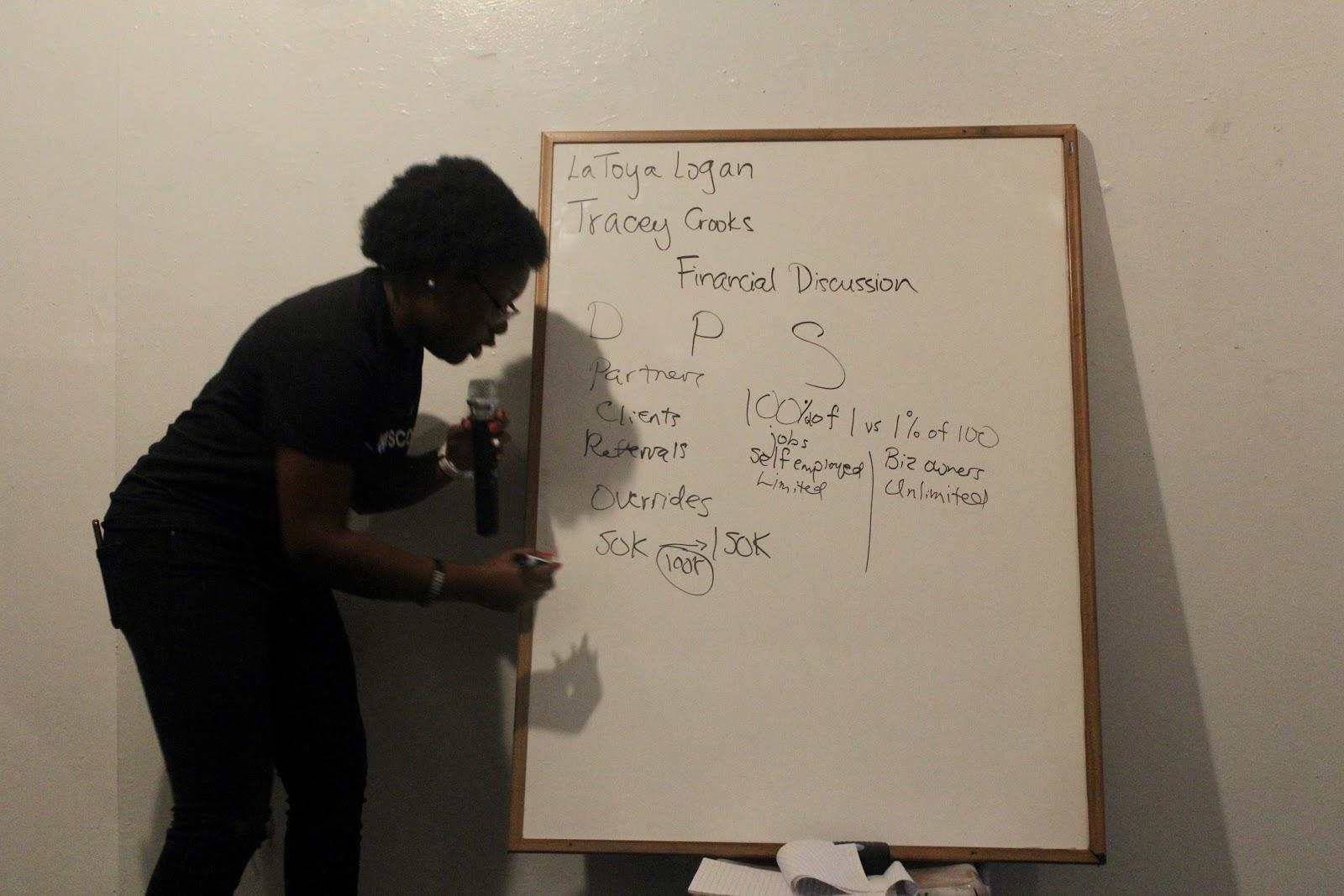 "La Toya Logan conducting the ""Artist Finances"" Panel / Voiceless Music Meetup (PHOTO: Regan Hsieh)"