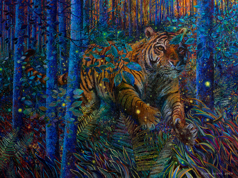 Tiger Fire  (2019),  Iris Scott
