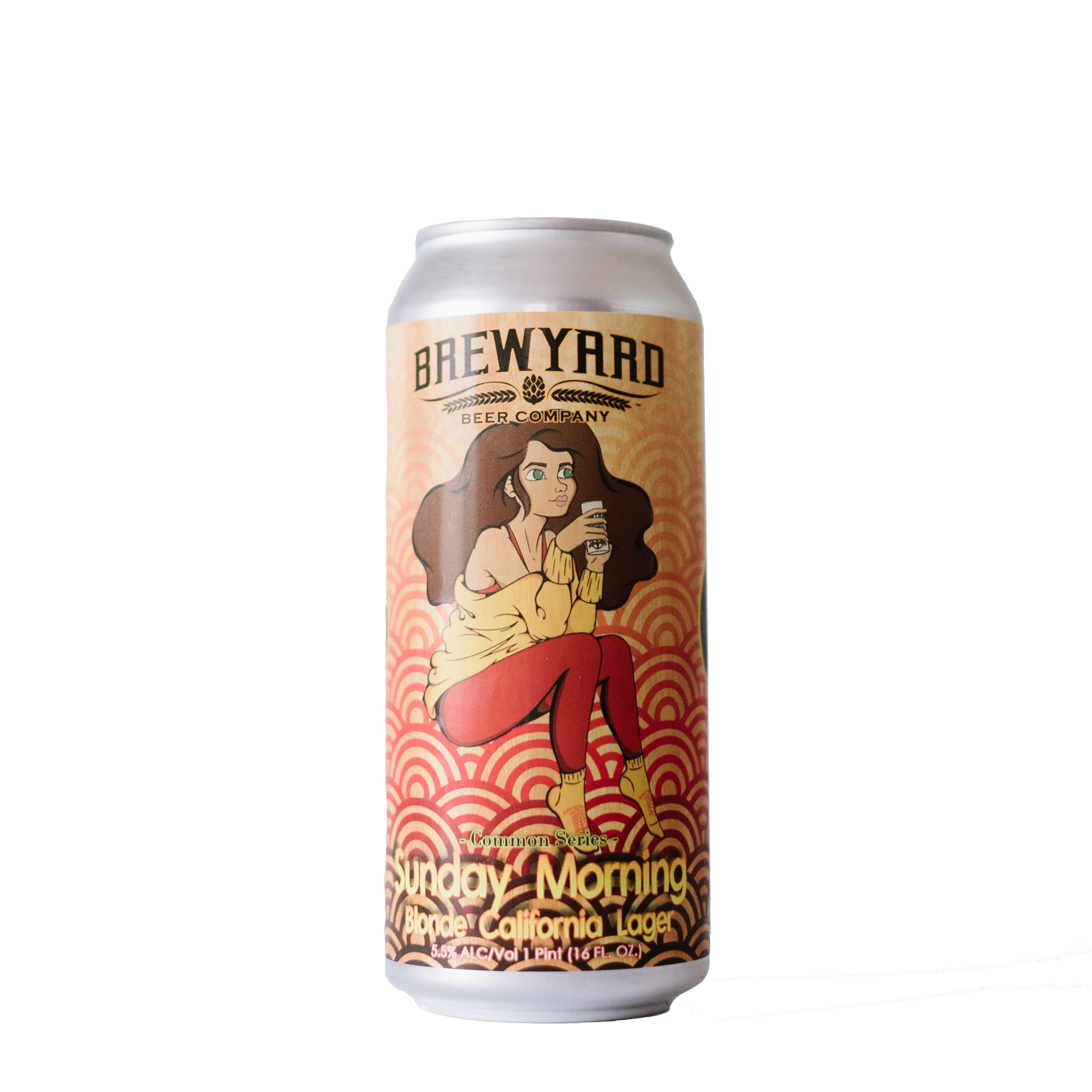 Brewyard Beer Company       Sunday Morning, Blonde California Lager    The perfect addition to Sunday morning brunch, the Sunday Morning Blonde Common Lager is light yet drinkable. As easy to get along with as those besties at Brewyard.