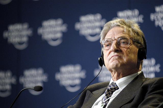 Billionaire George Soros in Davos