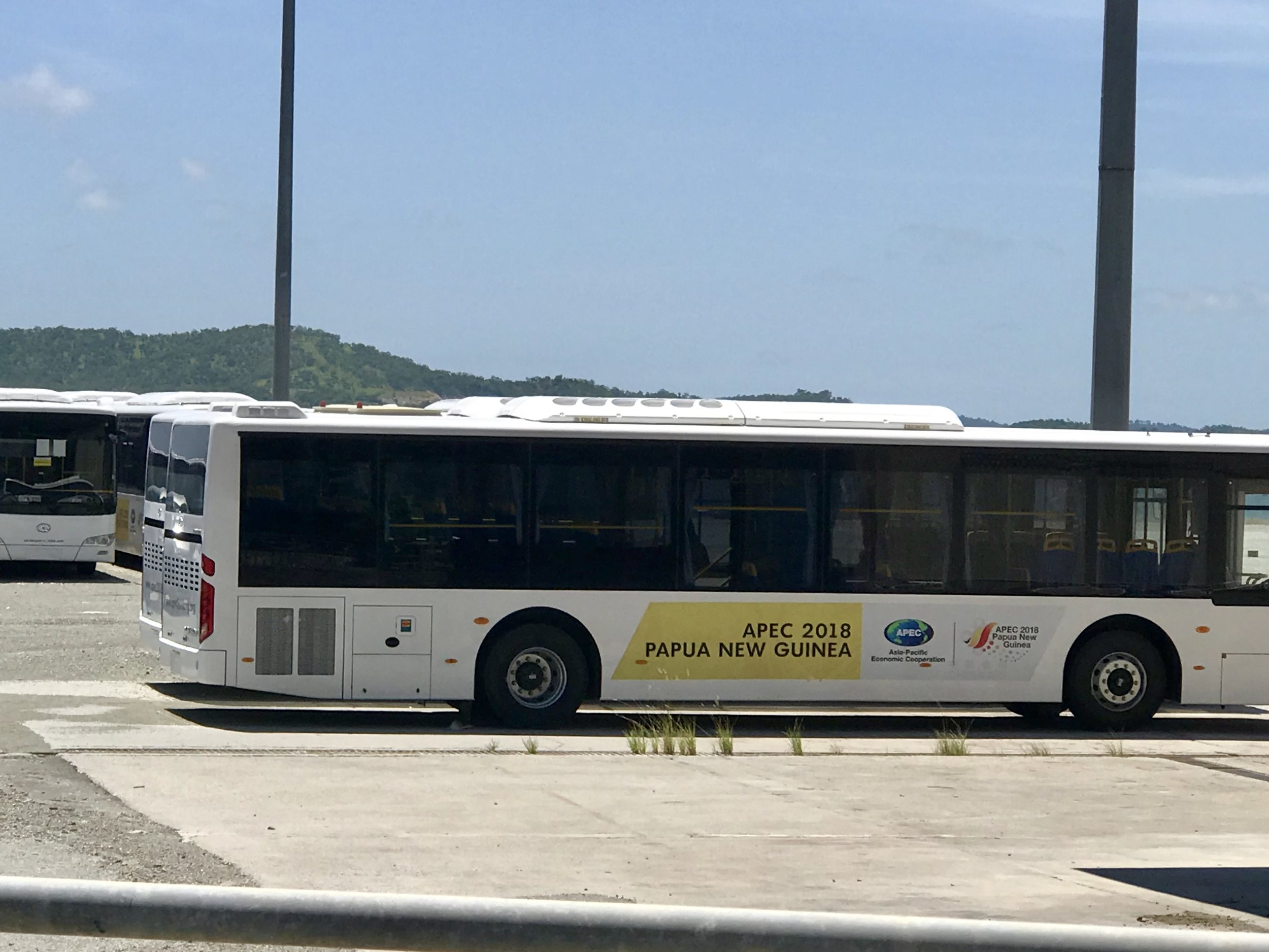 One of the many vehicles from the 2018 APEC Summit waiting to be sold.