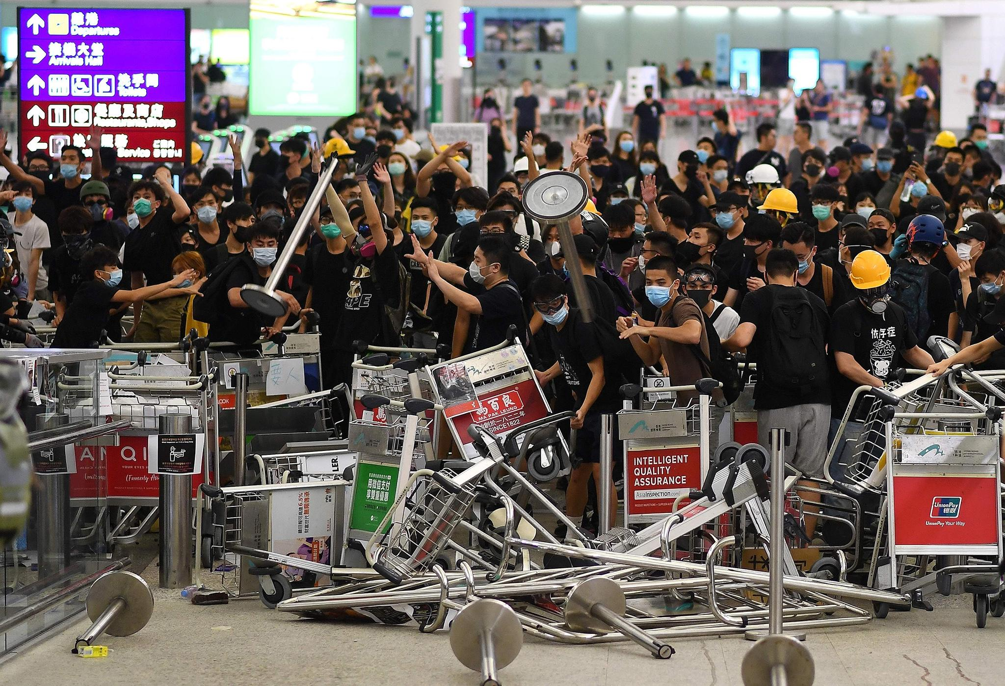 Several protests which caused massive disruptions at Hong Kong International Airport have caused hundreds of Cathay flight cancellations