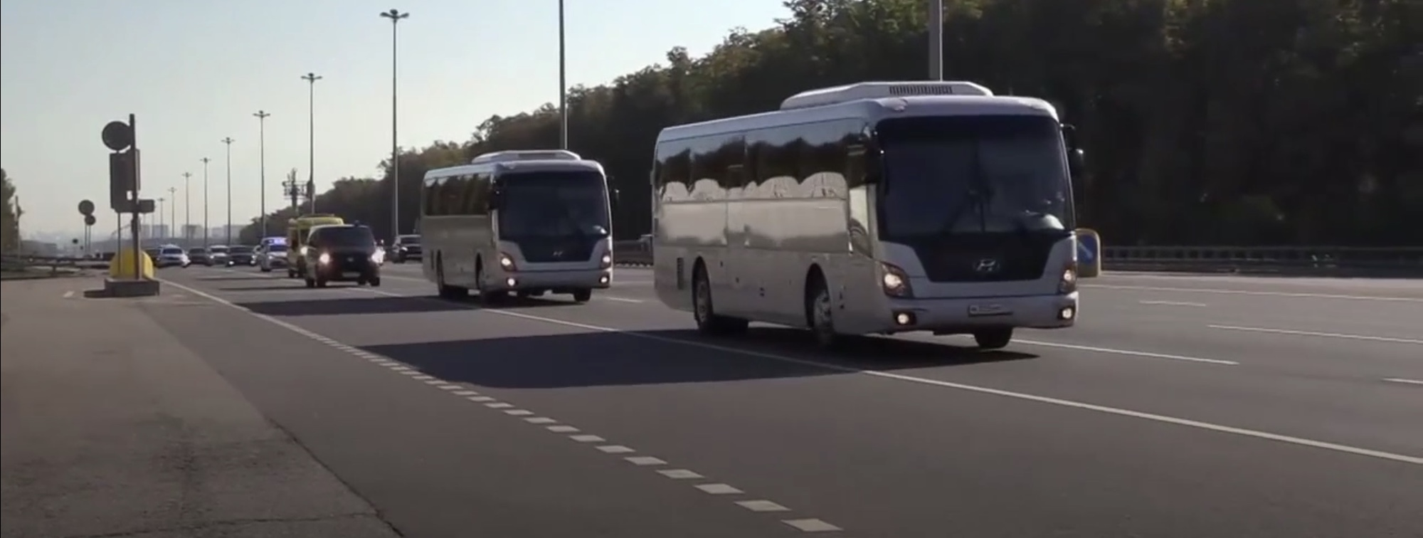 Buses believed to be carrying the 24 Ukrainian sailors captured by Russia departed Moscow's Lefortovo prison on Saturday morning.