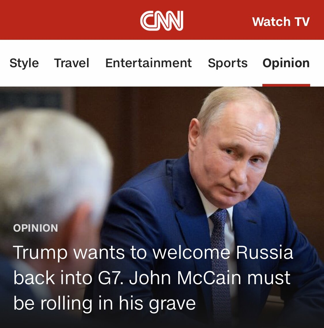 CNN Opinion: August 24, 2019: To read, click   here