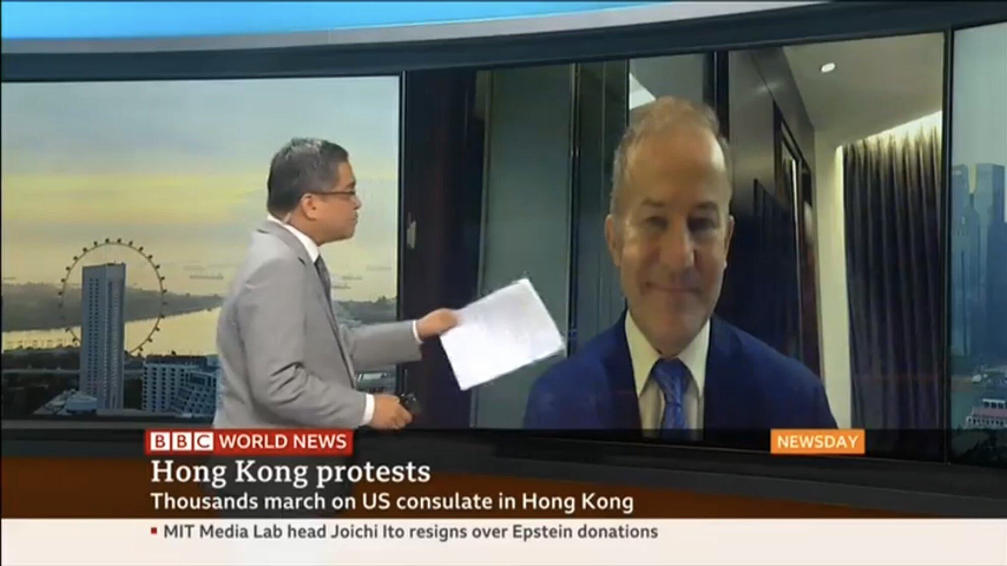 BBC World, September 9, 2019. To view, click   here