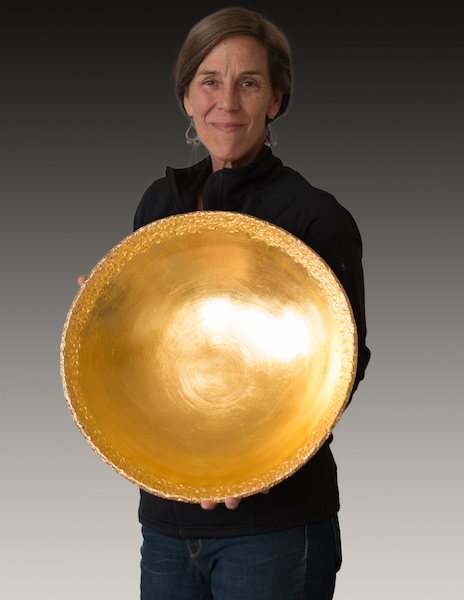Val with gold coral bowl.jpg
