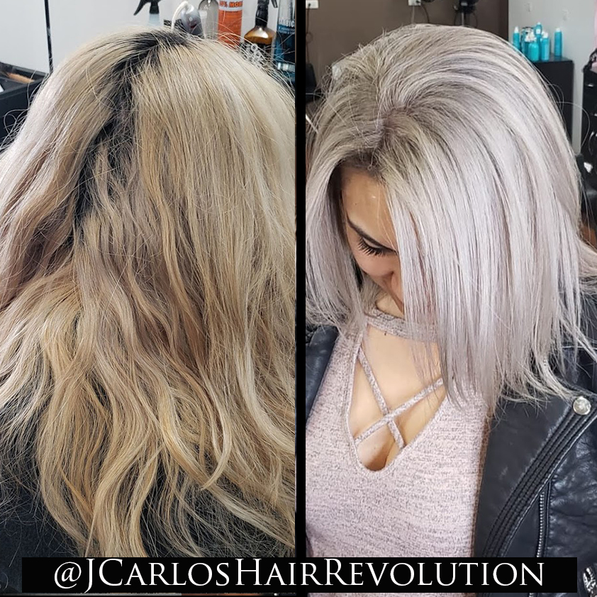 Double Process / Re-Growth Starting at $160 - This service is for those clients who received a global lightener application and their new hair is coming out. Lightener will be reapplied to the new hair and the entire hair will be glazed to make sure it will all blend it together again.VERY IMPORTANTDon't allow your new hair to grow longer than 1/2 inch (around 6 weeks) before receiving a lightener application re-touch. This hair is new and easy to process.Once the hair has grown longer than 1 inch, it will be harder to process and a different process will need to be done… it could double the time of work and double in price as well.All color services include an In-Salon Treatment and blow-dry with style. Keep in mind it can take multiple hours… make sure to block your calendar and not make any plans. You will be in the chair for multiple hours and there are no shortcuts. We can only estimate a time frame and price for the service... final pricing will be given at the end of the serviceFor all color services, charges are estimate at $100 for the first hour and $60 for every additional hour. Price will vary based on the desire look.