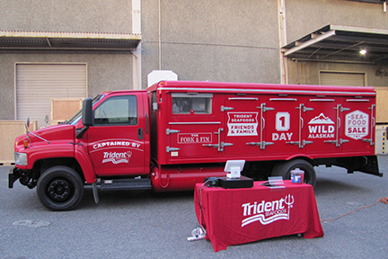look for the big red truck - We often have concurrent sales with our Fork & Fin food truck. Find our One-Day Sale location on our event calendar and then look for the big red truck! If you would like sale event information delivered right to your inbox, fill out the form below and we'll let you know where you can find us next!