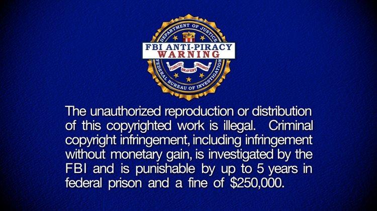 Anti-Piracy Warning Screens — Modern Motion