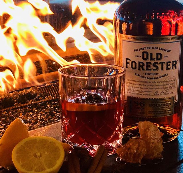 Hot toddy weather. #ParkerAtTheFontaine