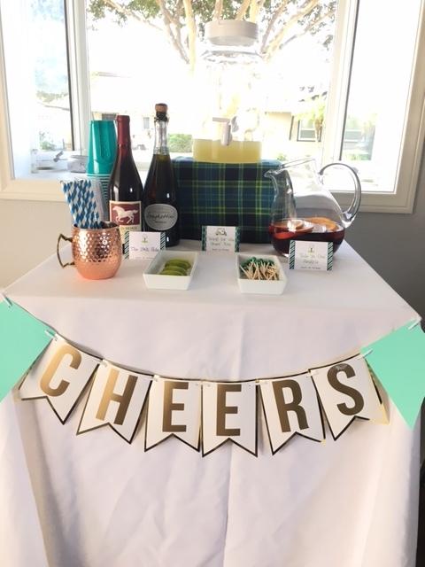 golf theme party bar buffet boy birthday party ideas.JPG
