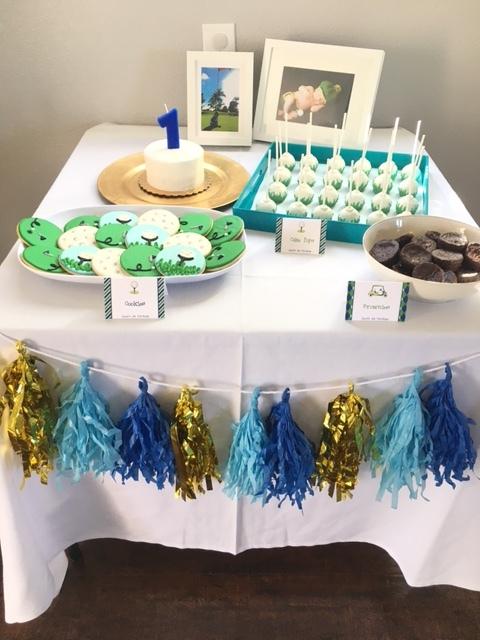 dessert buffet golf theme boy birthday party ideas.JPG