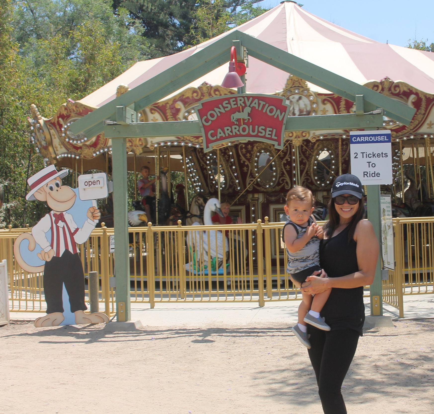 Santa Ana Zoo Mommy and Baby.JPG