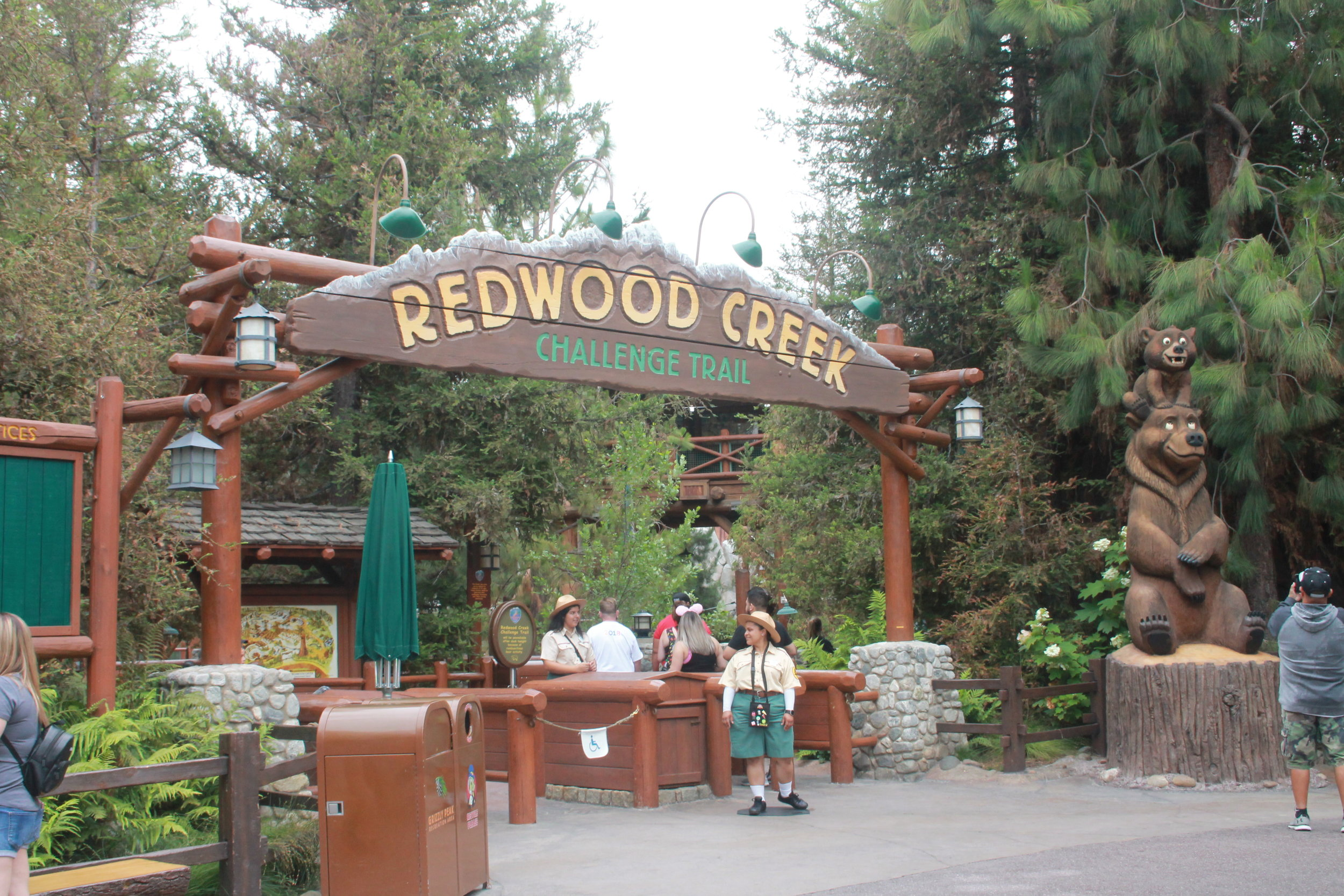 California Adventure Redwood Creek Challenge trail.JPG