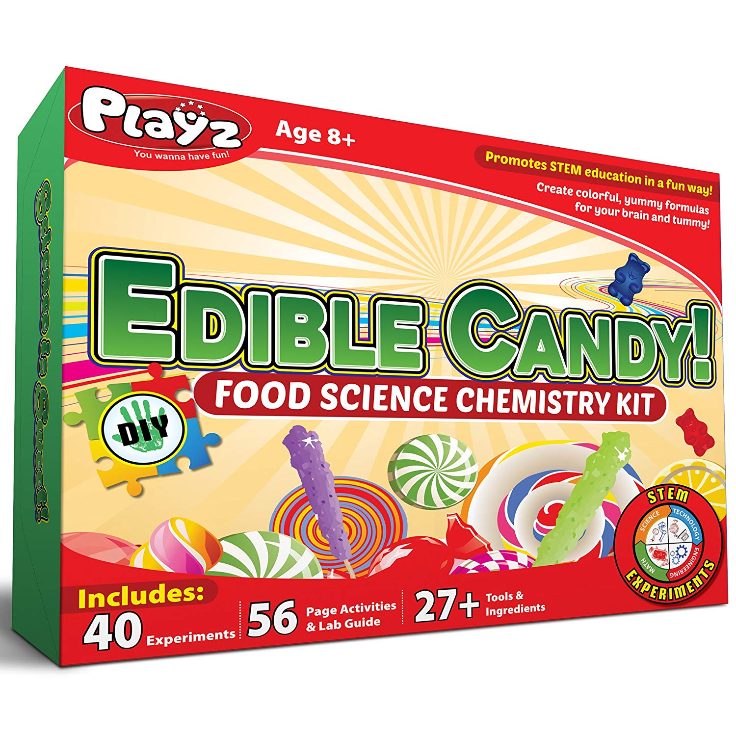 Playz Edible Candy! Food Science STEM Chemistry Kit