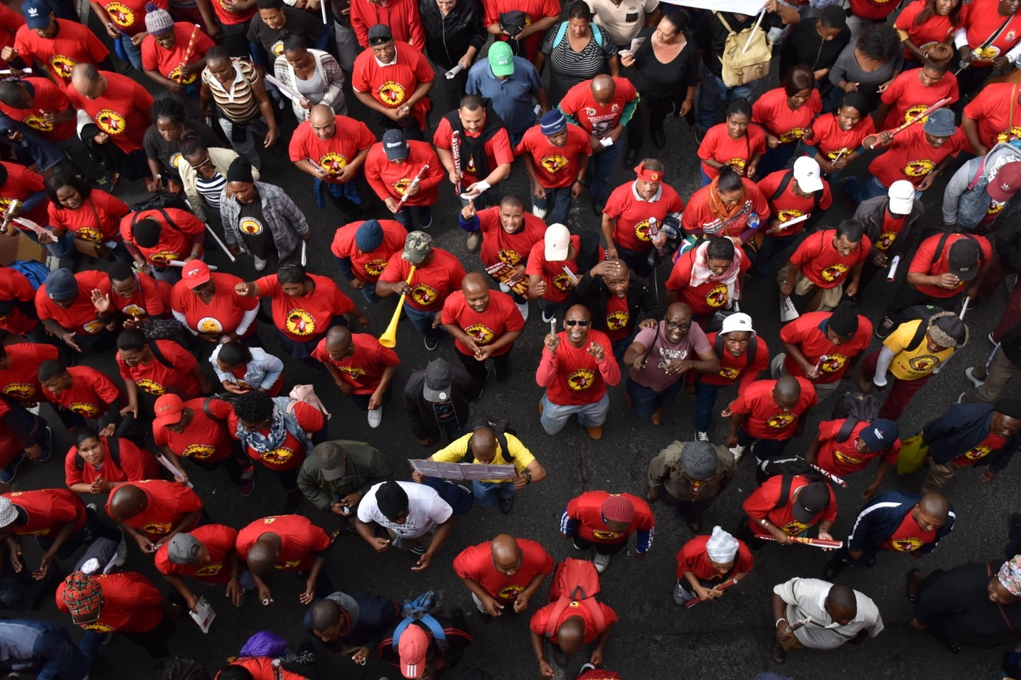 South African Federation of Trade Unions March for Minimum Wage (April 25th, 2018). Photo courtesy of Adam Yates