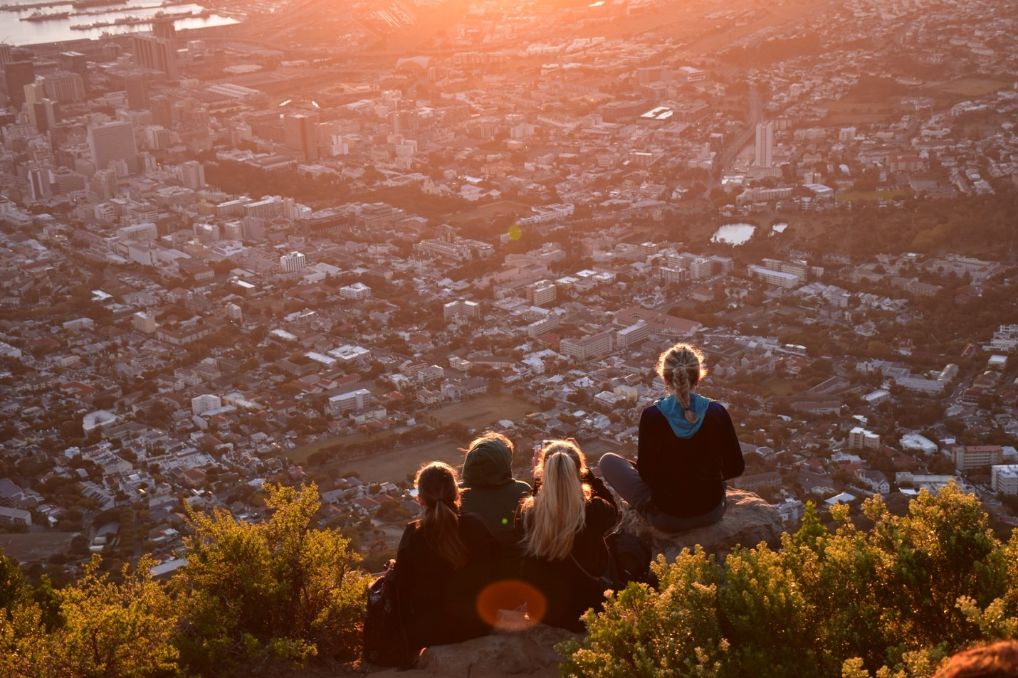 Atop Lion's Head at sunrise. Photo courtesy of Adam Yates.