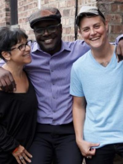 SWITCH Chicago creators Dawn Marie Galtieri, Abu Ansari, and Jaq Seifert; photo;Claudia Anzur