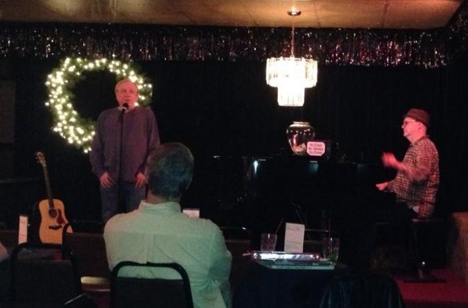 Dan accompanying Jimmy Odom at cabaret, Davenport's