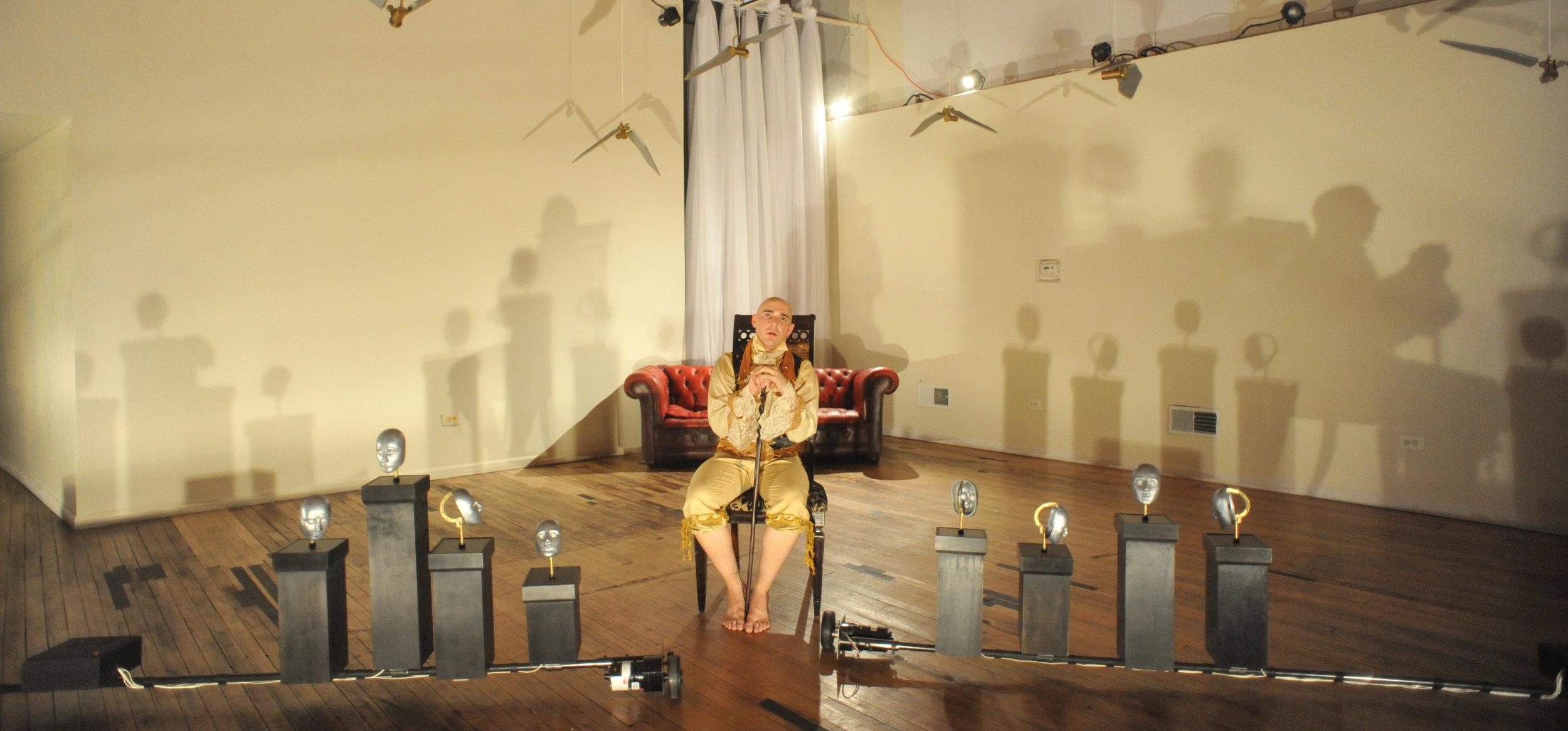 Julie's lighting of Khecari Dance, The Waking Room 2009; Choreography: Jonathan Meyer; Dancer: Philip Elson Photography: Dan Merlo