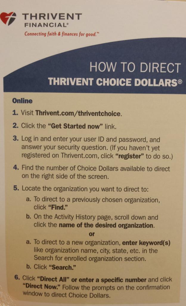 Thrivent Choice #1