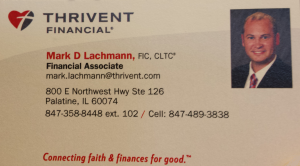 Thrivent Rep card