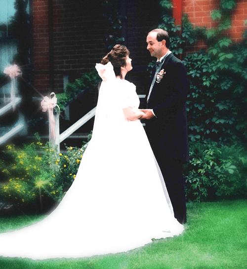 Debra and her Beloved on their wedding day