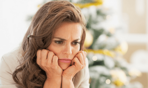 Frustrated Woman Stuck on the Relationship Roller Coaster