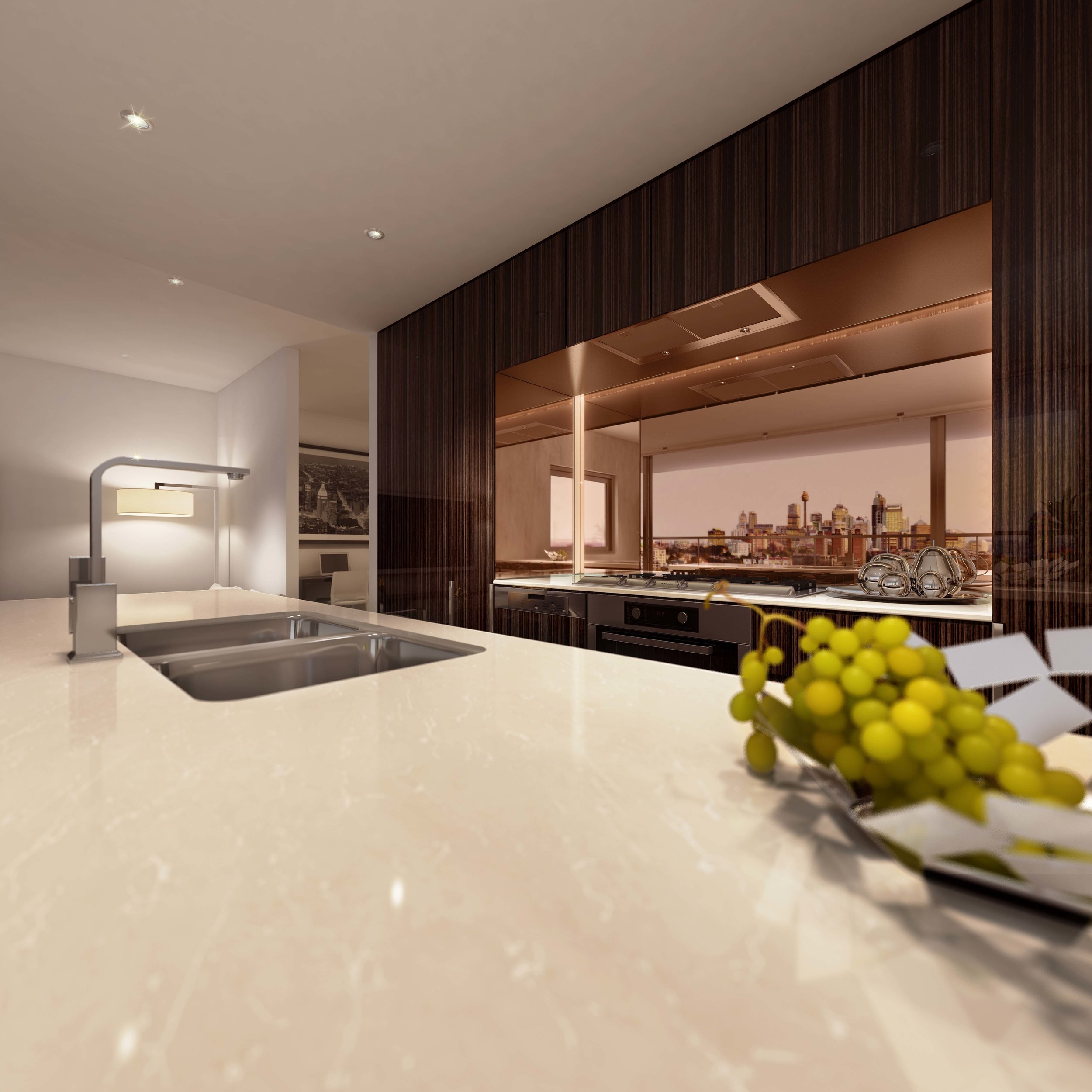 2 Bedroom - Kitchen 3 - Ebony.jpg