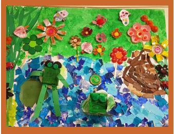 Children exploring the environment.