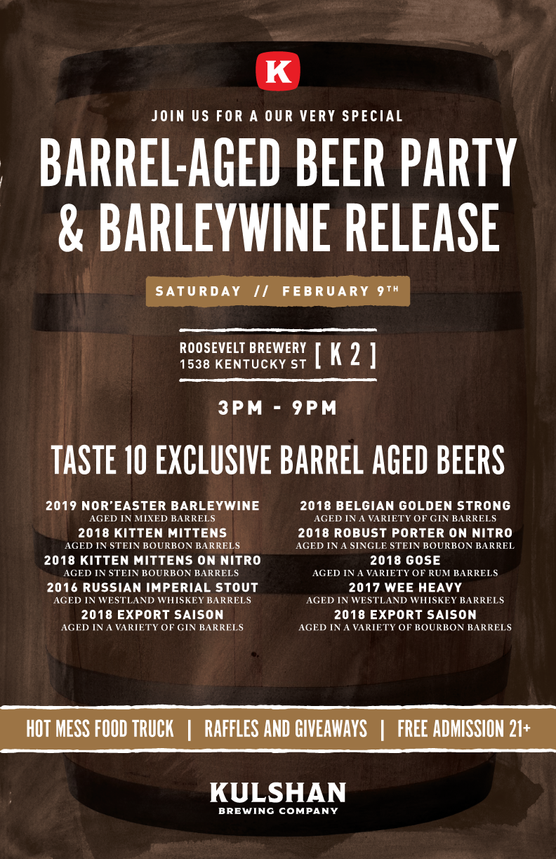 Kulshan Brewing Barrel Aged Beer Party