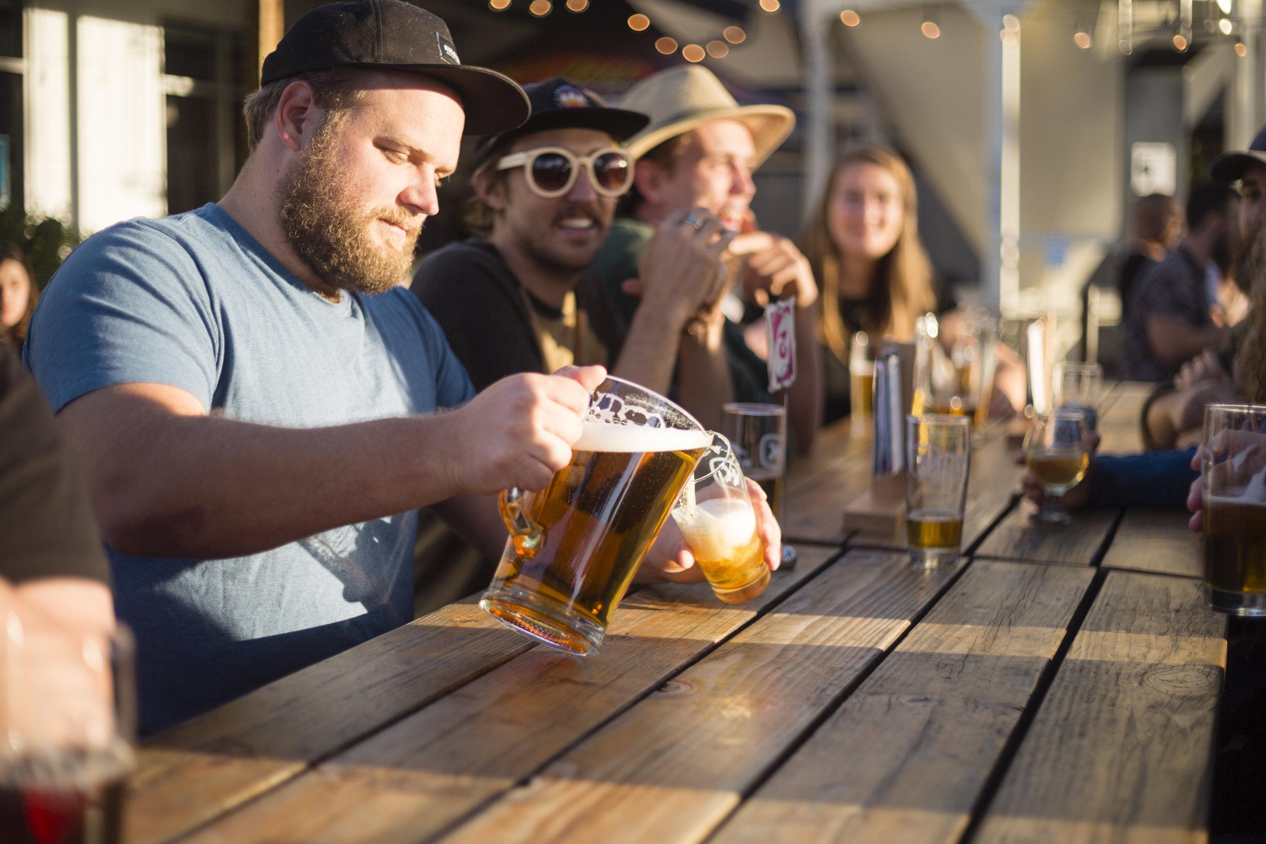 Kulshan Brewing Happy Hour in the Beer Garden