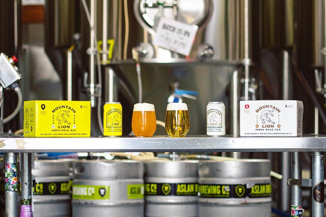 Aslan and Kulshan Brewing Collaboration Beer.