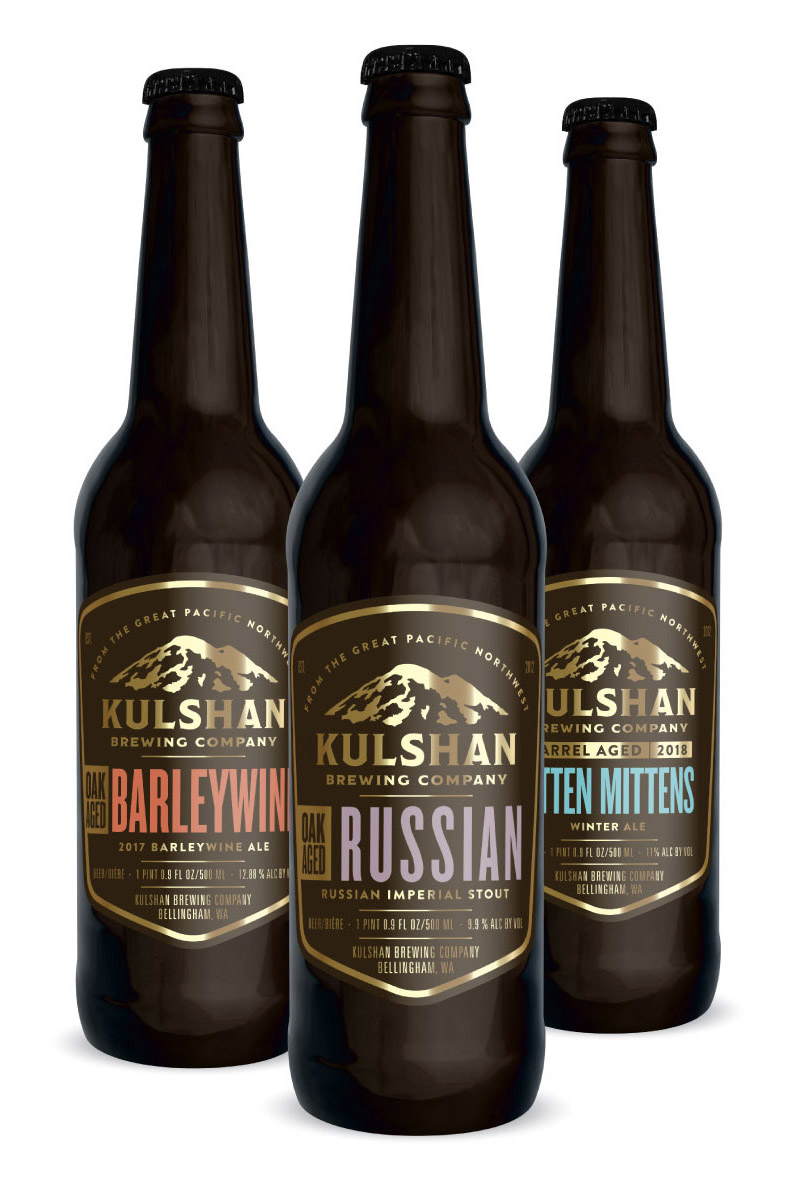 Kulshan Barrel Aged Beer Bottles