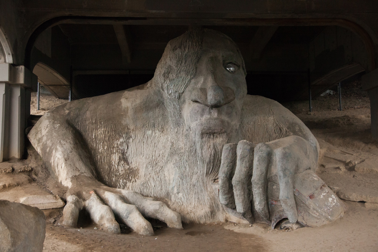 Fremont Troll, Seattle November 2016