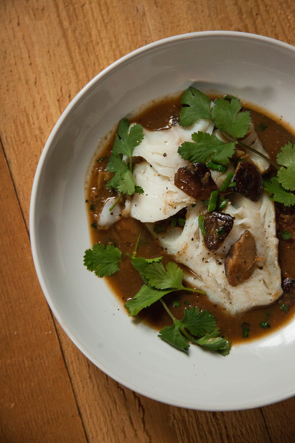 Poached Cod with Shiitake Mushrooms    -> Recipe on Barre Fitness Blog <-