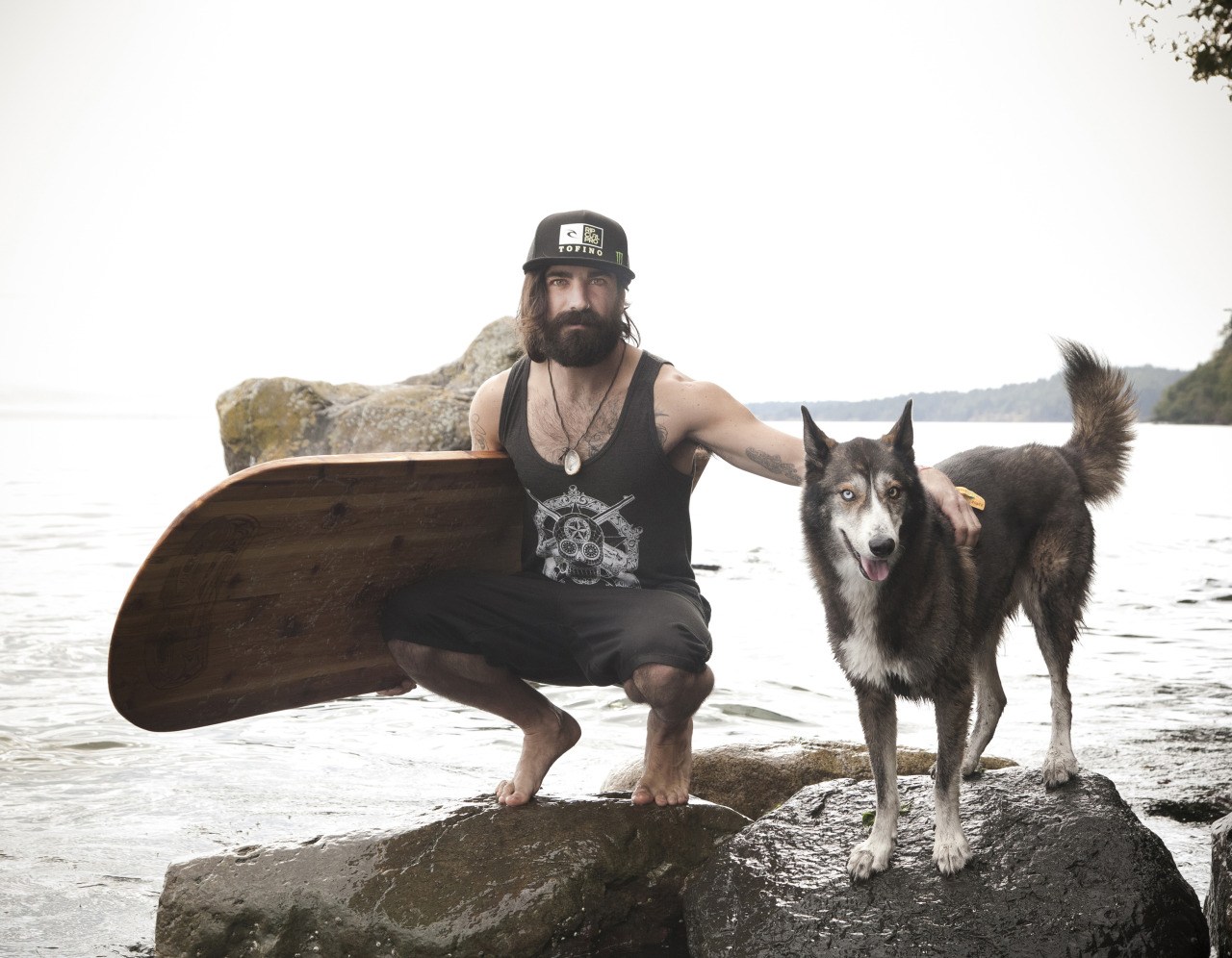 """Been working on a charity calendar project for a while now, called  """"Dudes with Beards and Boards and Dogs"""" …we finally have sent it to print and it's  available for pre-order online !   Tough job to volunteer for right?"""