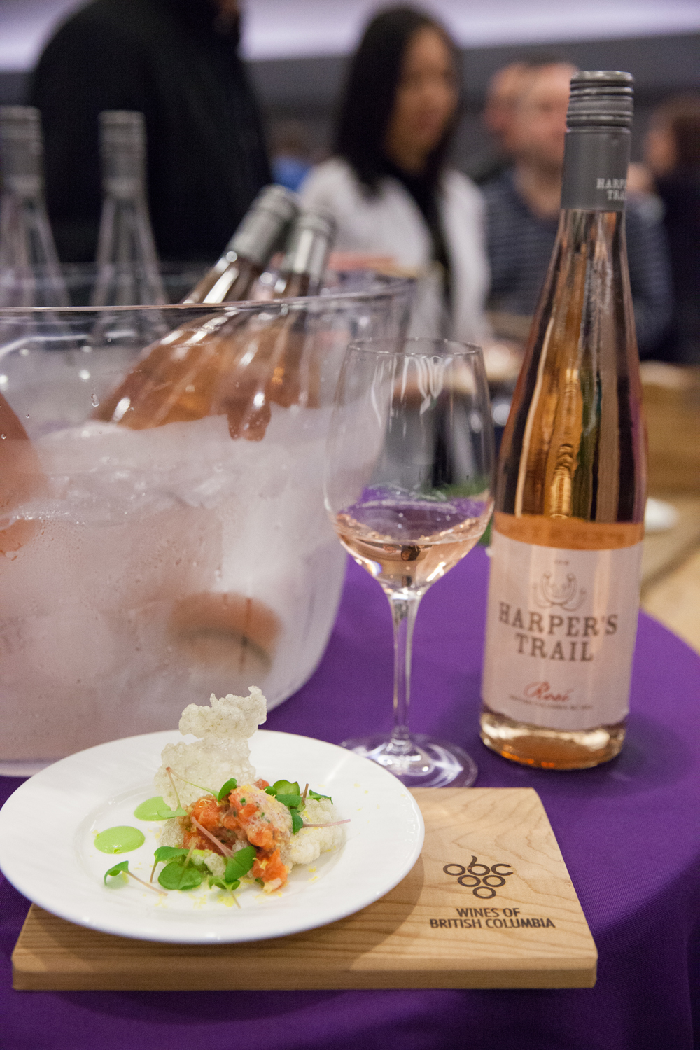 BC Salmon Tartare (with Cured Yolk, Radish, Leek & Pea) from Chef Stacy Johnston of  Ocean Wise  - which was paired with a  Harper's Trail  2018 Rosé