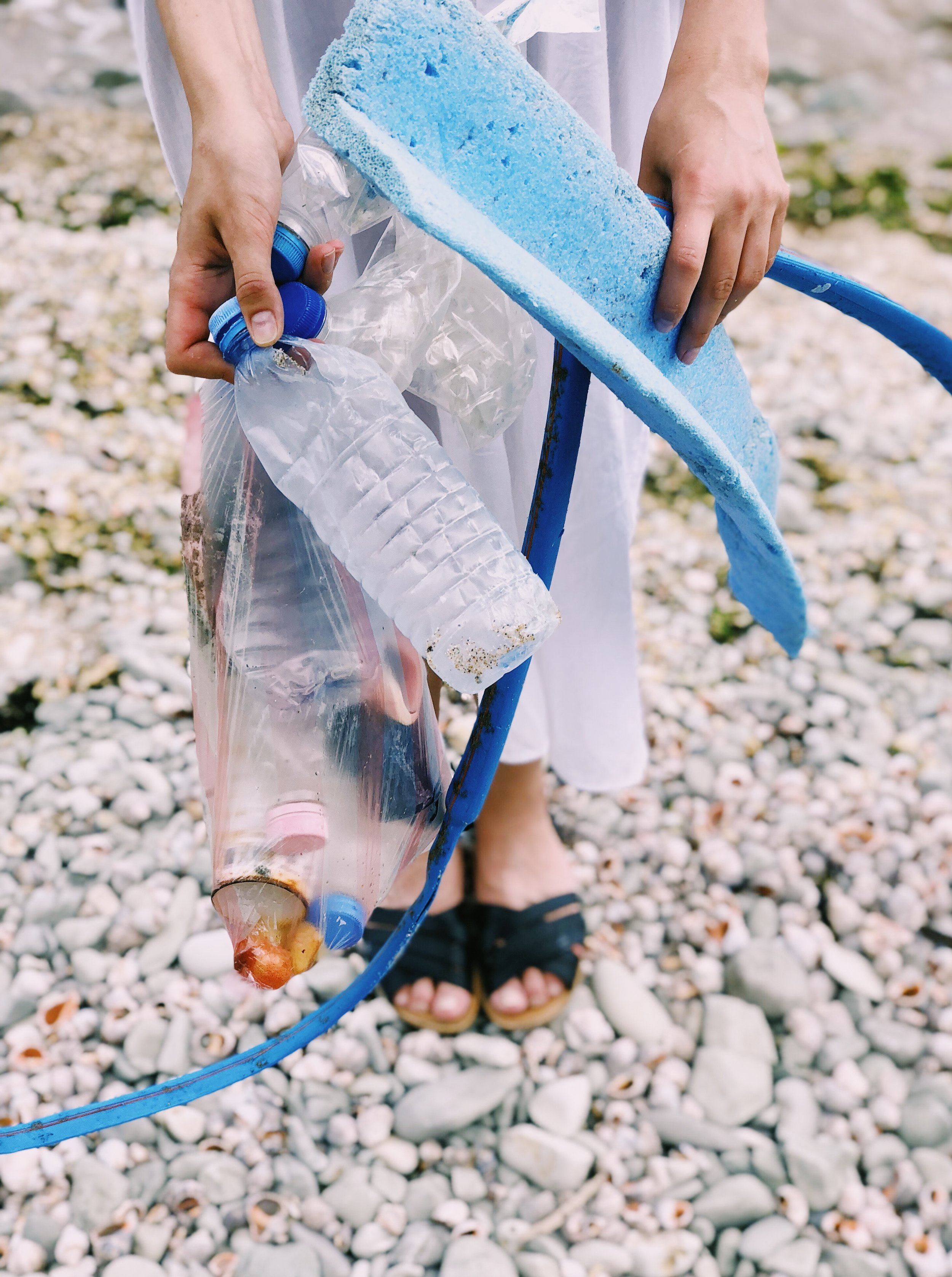 """Take Three for the Sea"" means to pick up three pieces of trash every time you are at the beach. What a quick and easy way to help protect our coral reefs."