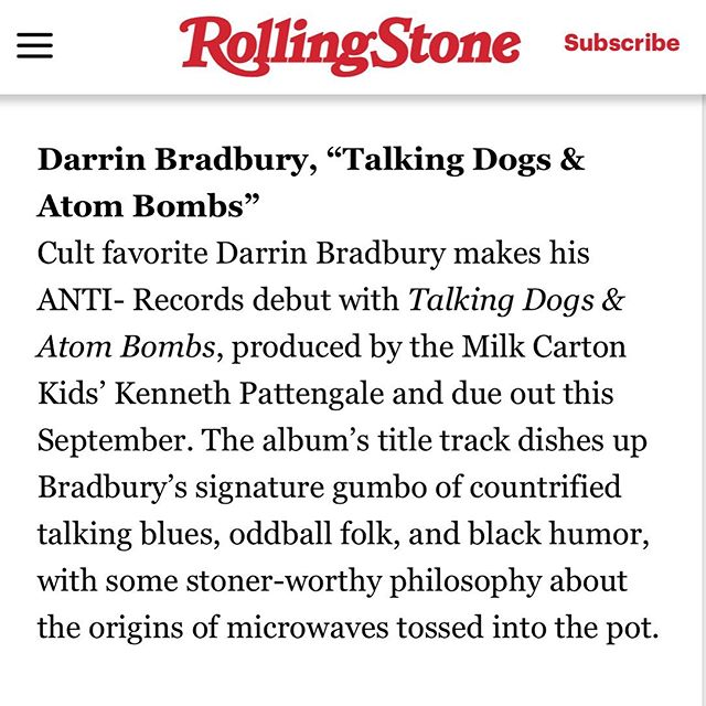 -Thank you- Rolling Stone top 10 best county songs of the week