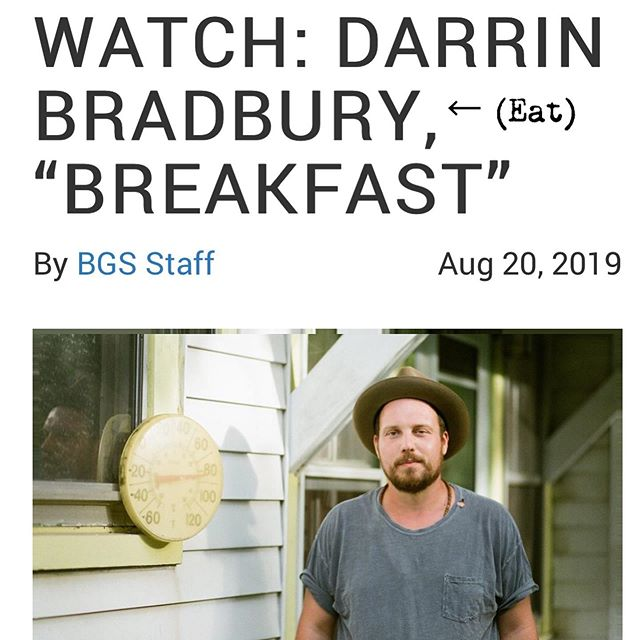 So yeah, I got a new tune premiering exclusively over at The Bluegrass Situation. It's a song about the stuff I think about over breakfast-which I assume is the kinda stuff everybody thinks about over breakfast-anyhow thanks @thebluegrasssituation (link in bio) 🐦